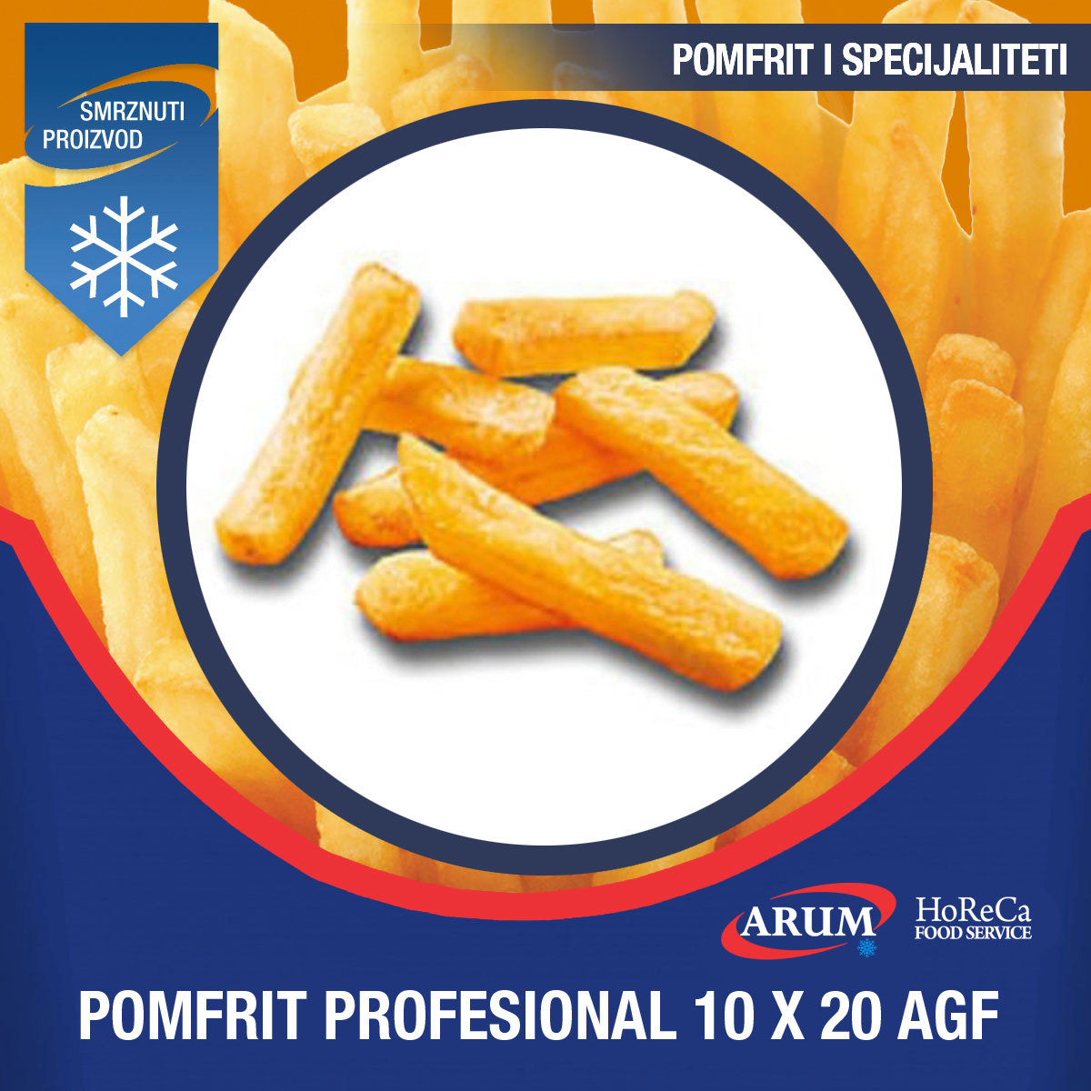 Agf 10x20 pomfrit professional-a 4x2.5 kg