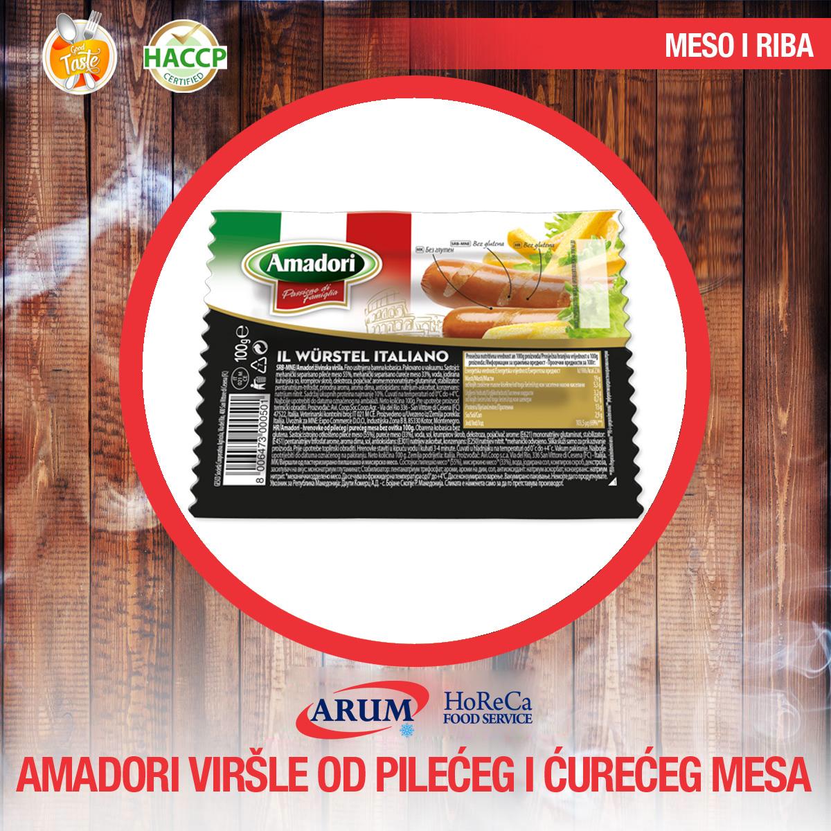 Amadori virsla od pileceg i cureceg mesa 1 kg (4/#)