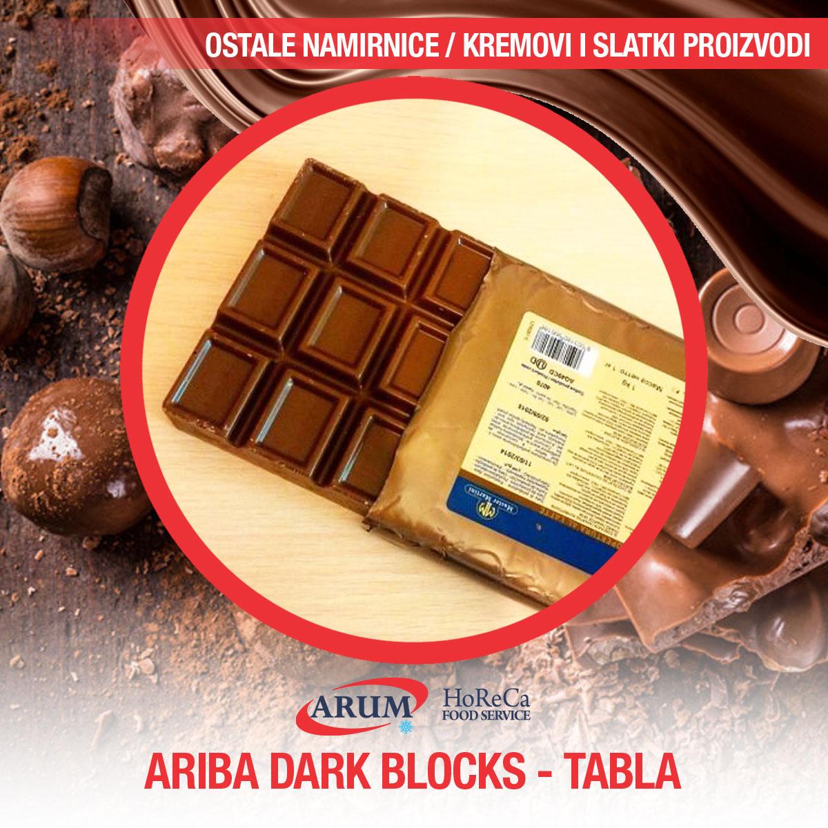 Ariba dark blocks - tabla 1kg