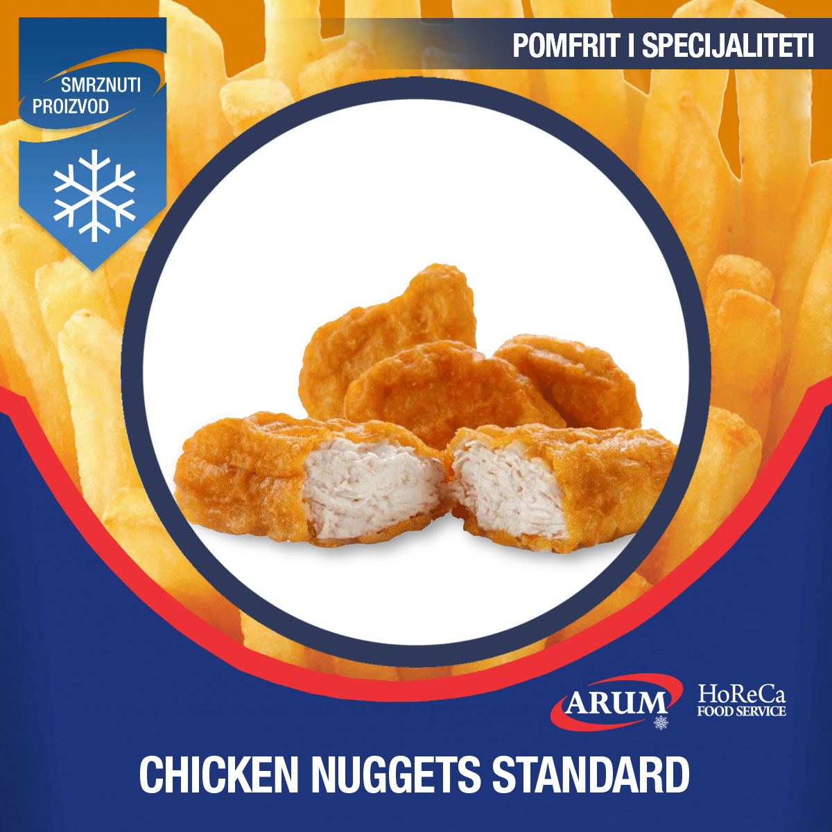 Chicken nuggets standard 2.5kg/1kg
