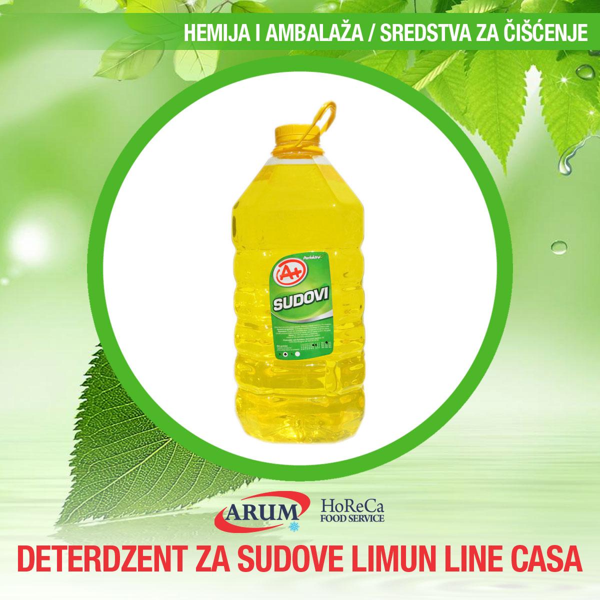 Deterdzent za sudove limun linea casa 5l