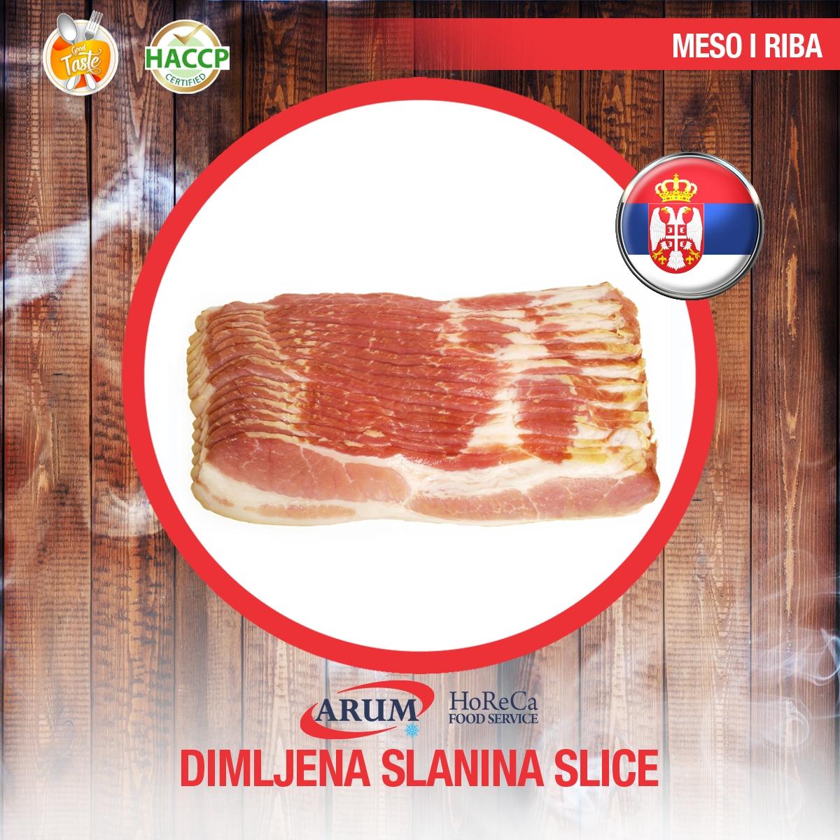 Dimljena slanina slice