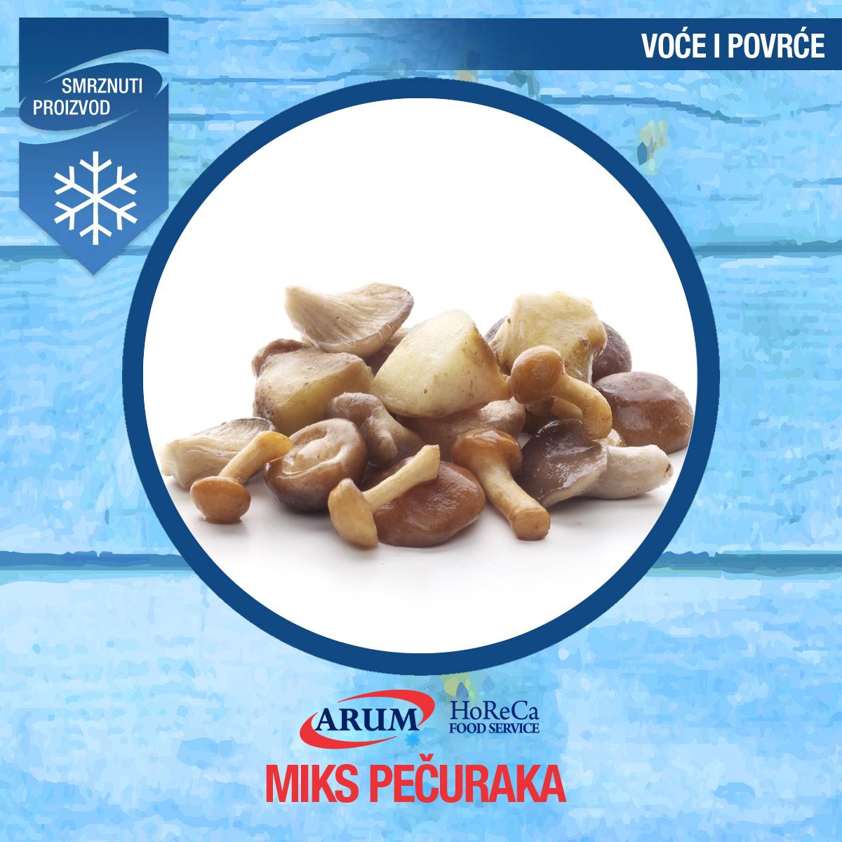 Dz smrznuti mix pecuraka (fine mushroom mix) 1kg