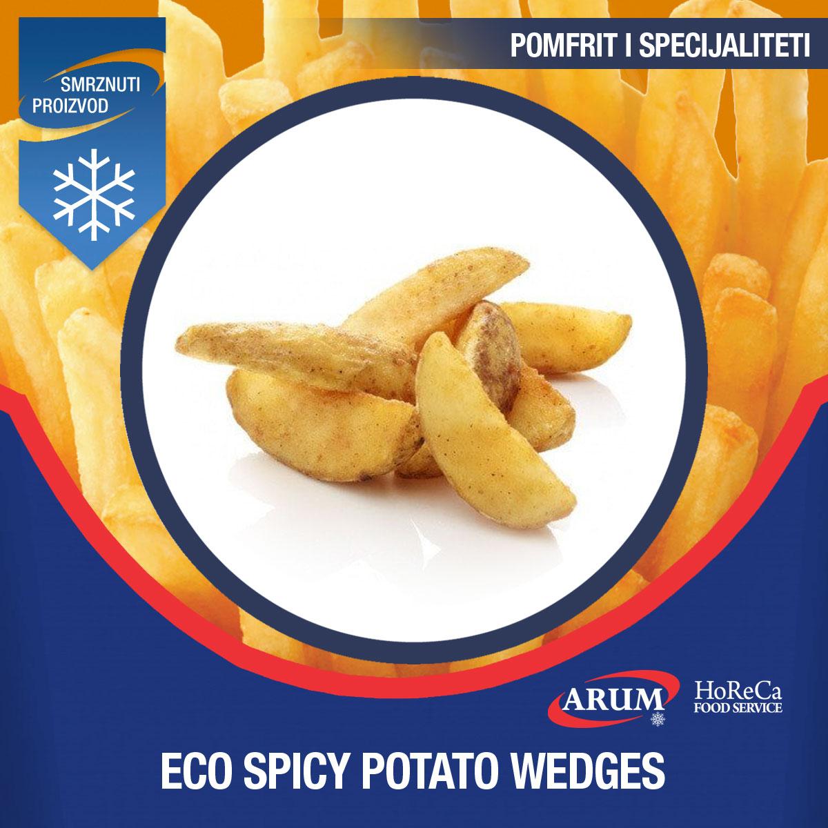 Eco spicy potato wedges 4x2.5 kg