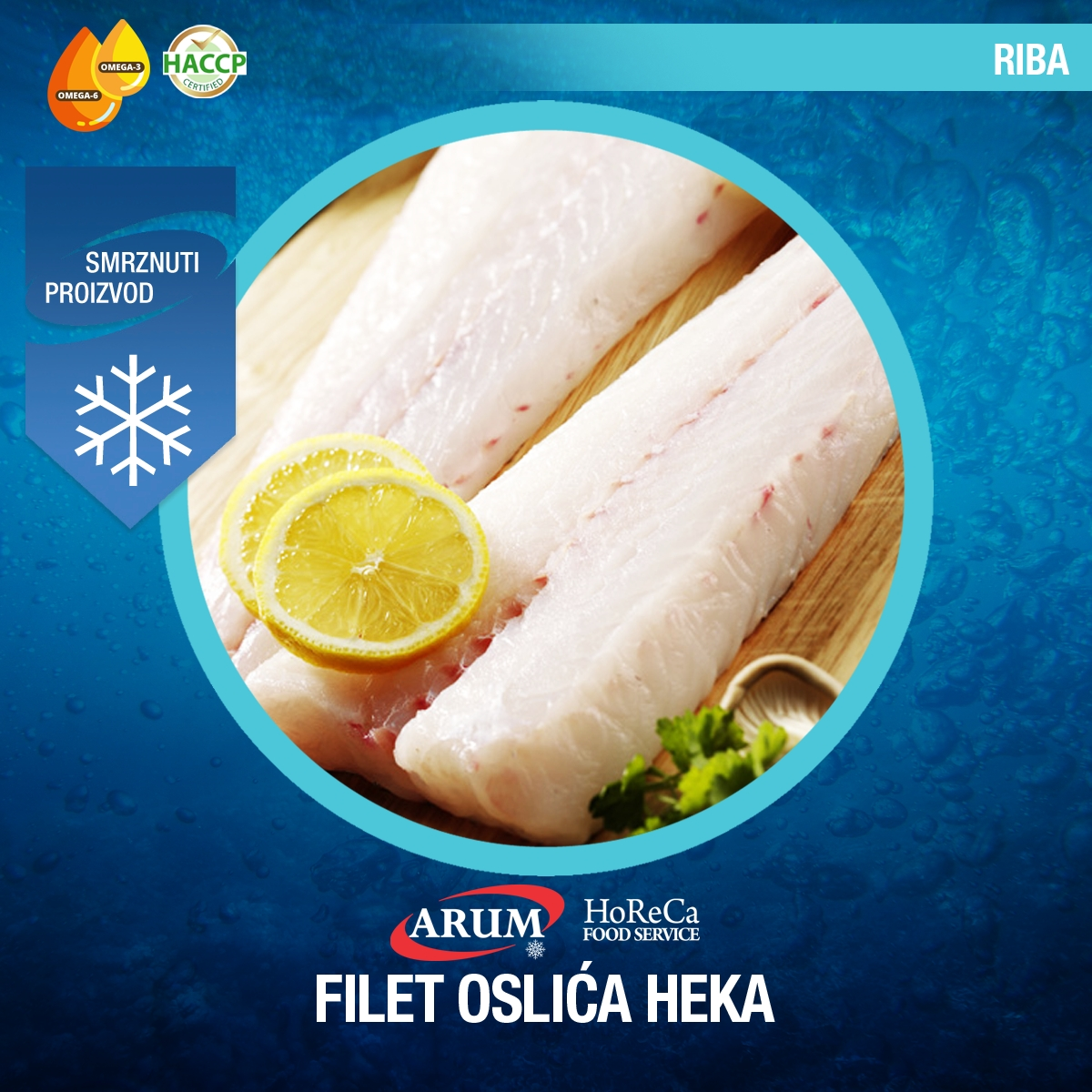Filet oslica heka