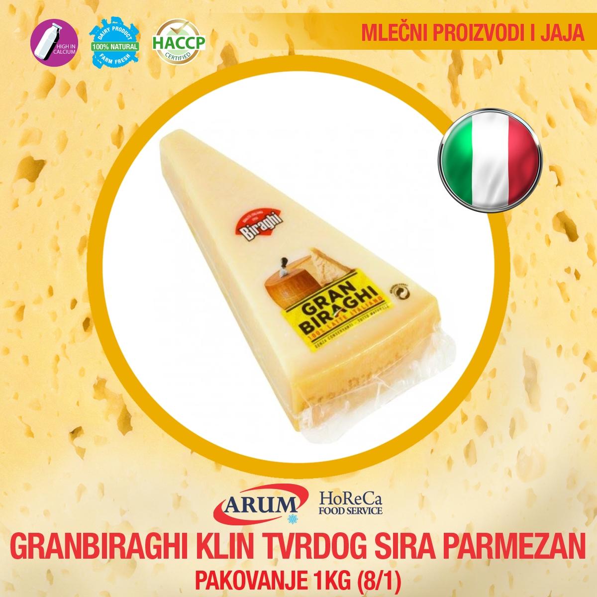 Granbiraghi klin tvrdog sira 1kg parmezan (8/1#)