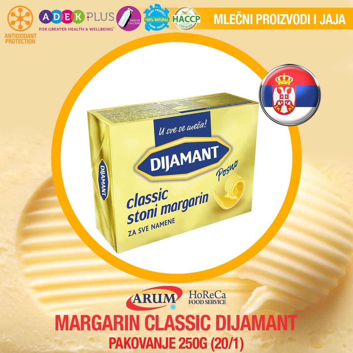 Margarin classic 250gr 20/1 dijamant