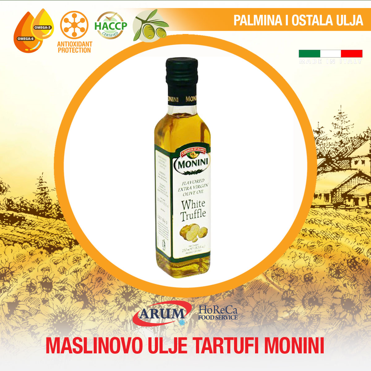 Masl. ulje tartufi 0.25l colavita