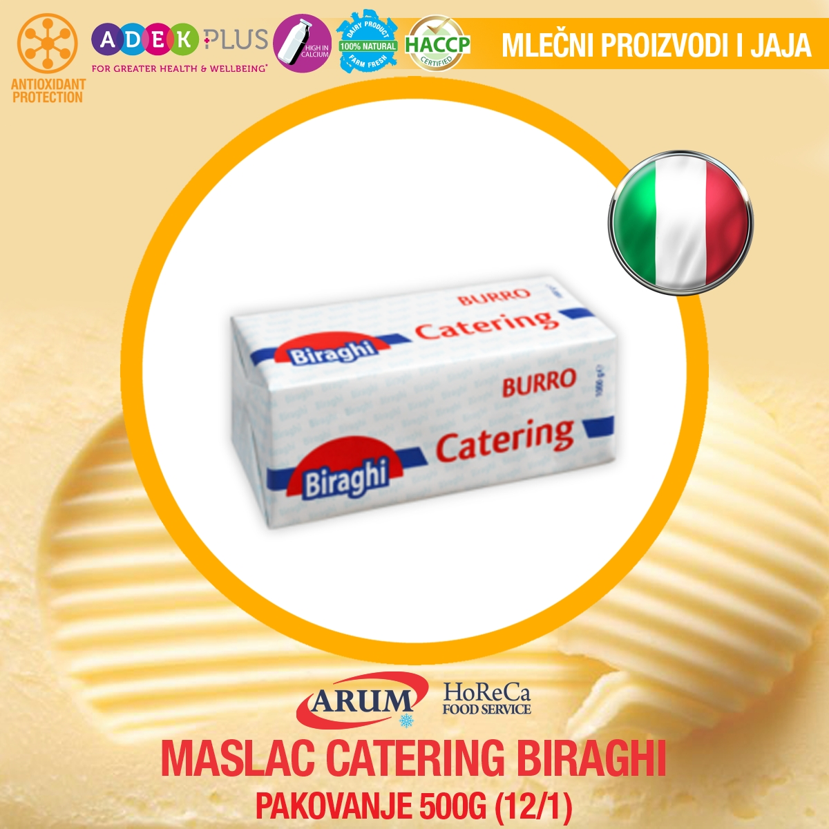 Maslac catering 1kg (6/1#)