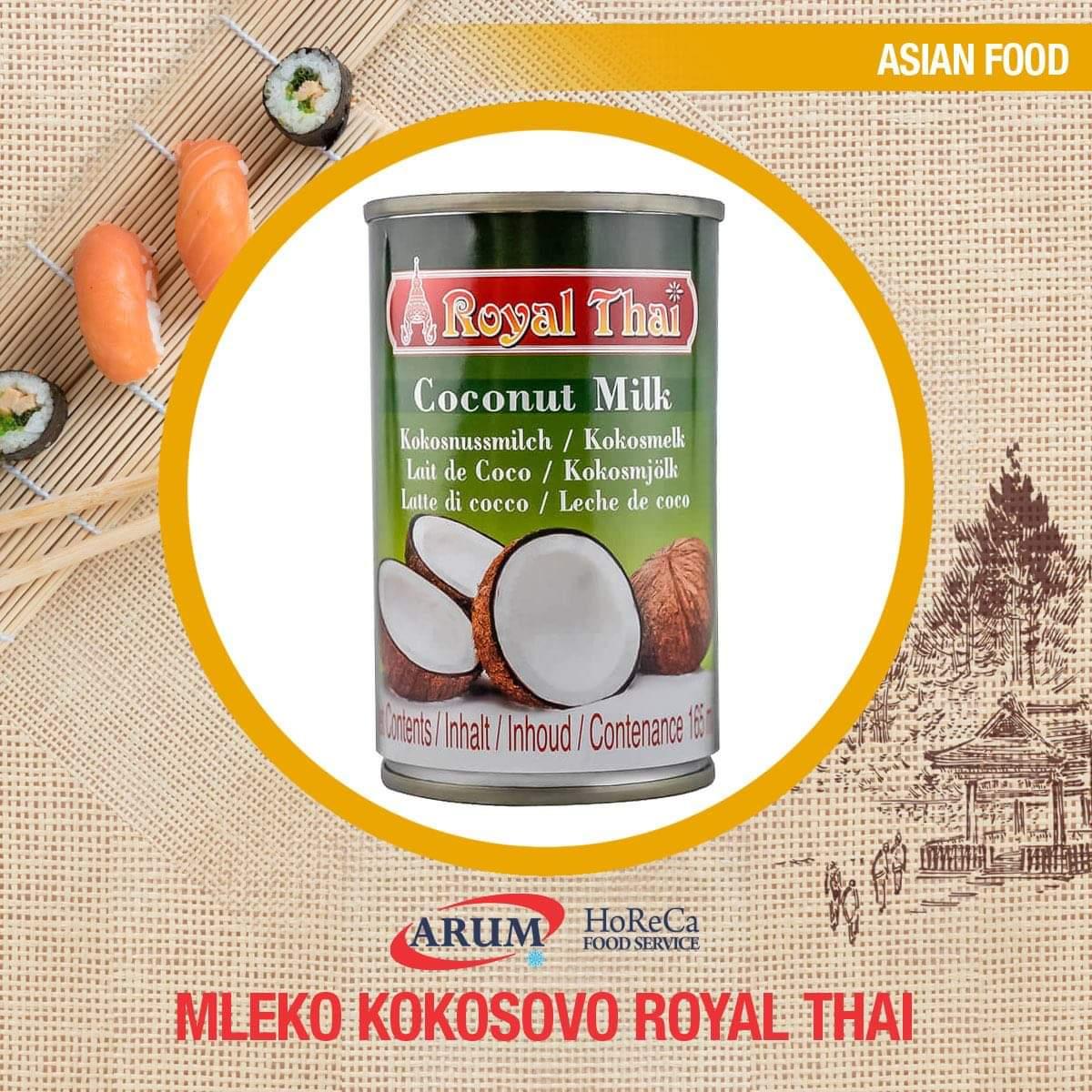 Mleko kokosovo 165ml royal thai