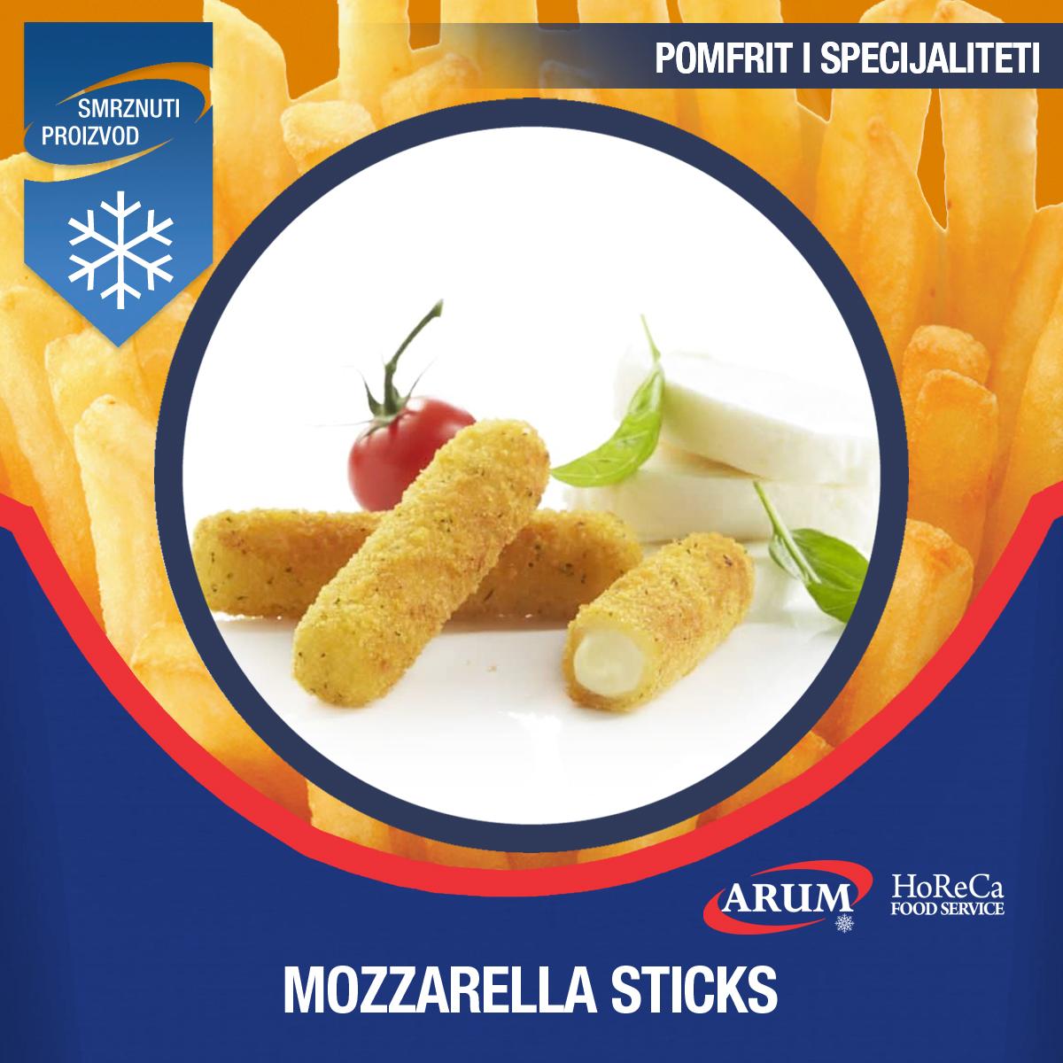 Mozzarella sticks 6x1 kg