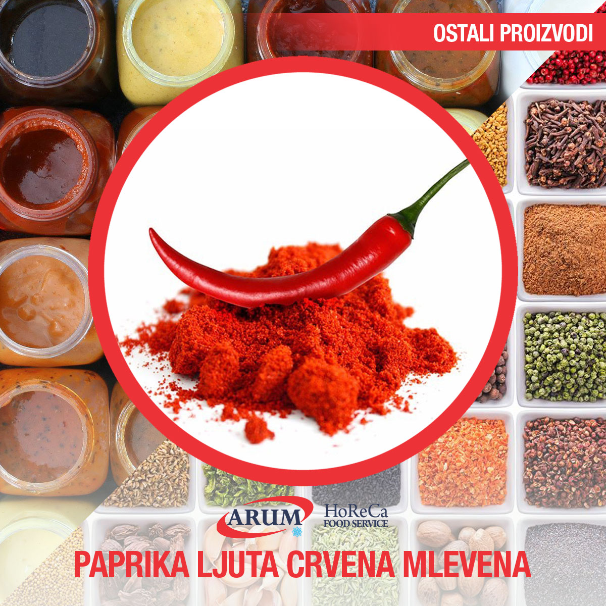 Paprika ljuta crvena mlevena 1kg