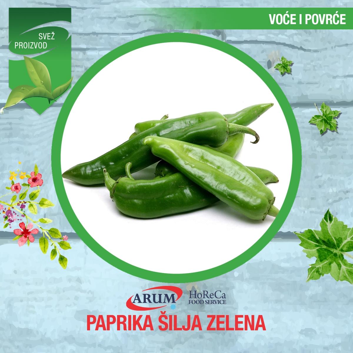 Paprika šilja zelena