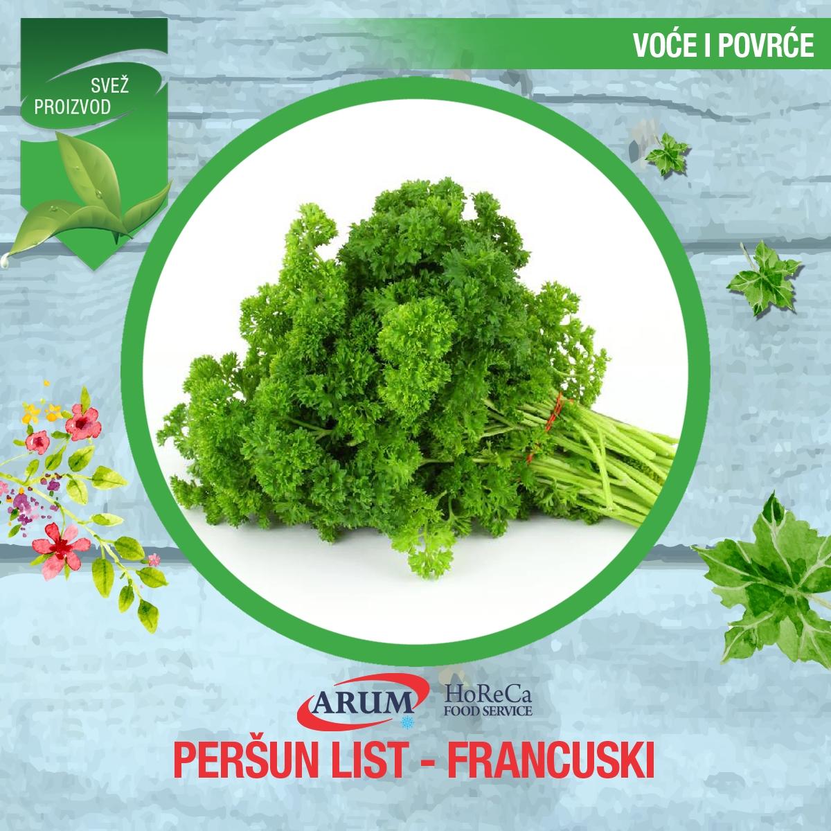 Persun list - francuski