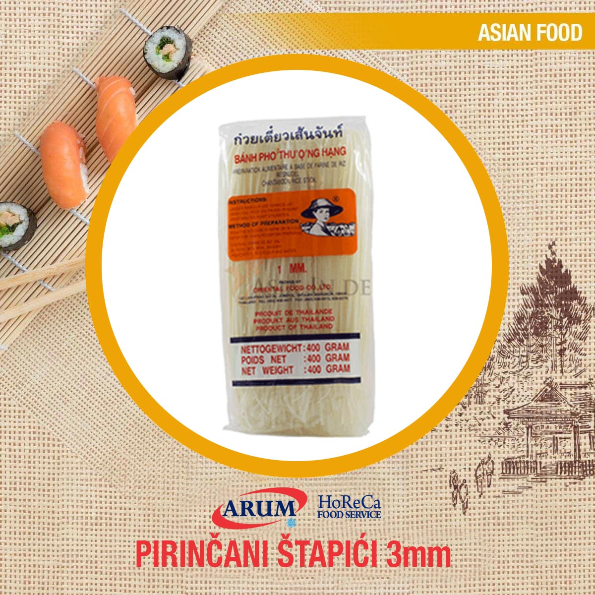 Pirincani stapici 3 mm 400 gr