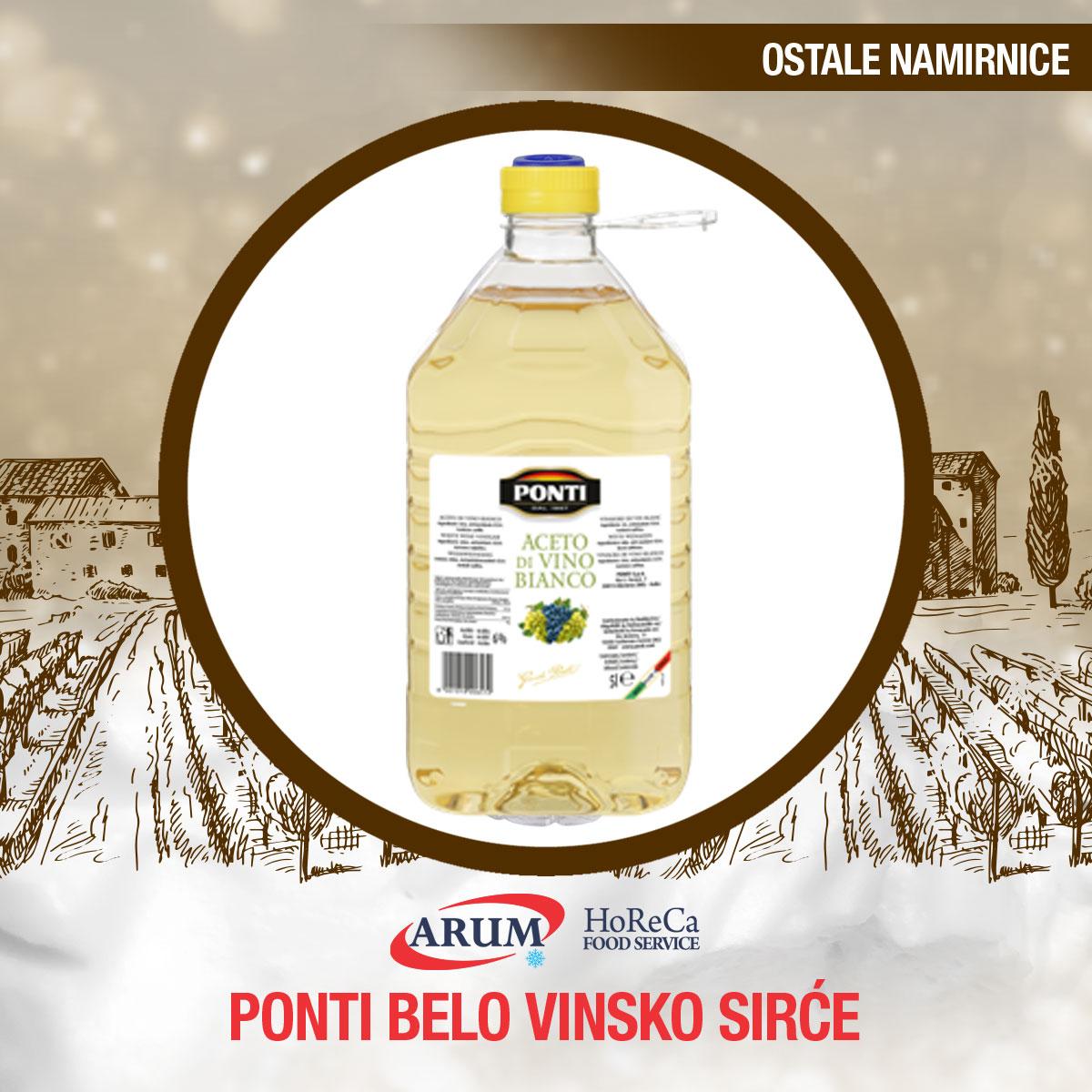 Ponti belo vinsko sirce 5l