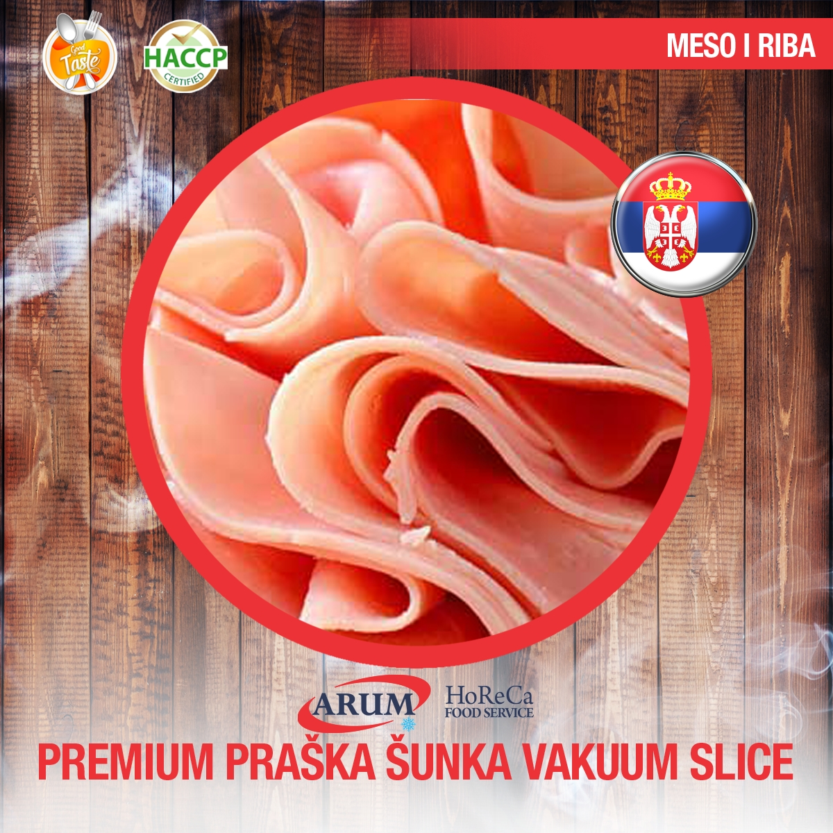 Premium praska sunka vakum slice