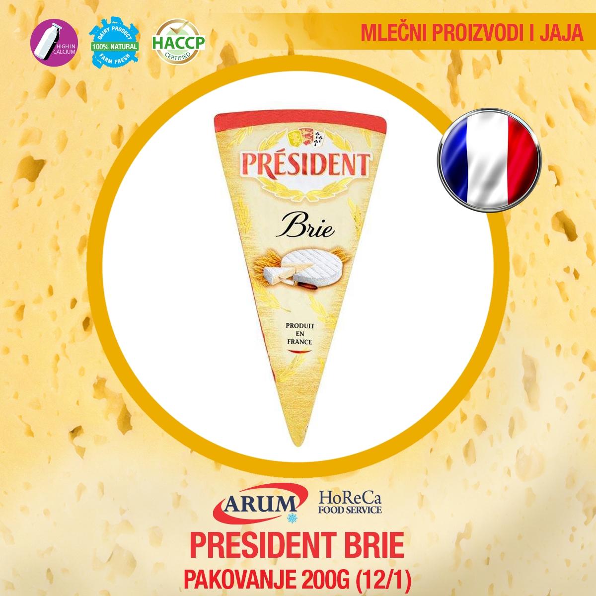 President brie 200gr (12/1#)