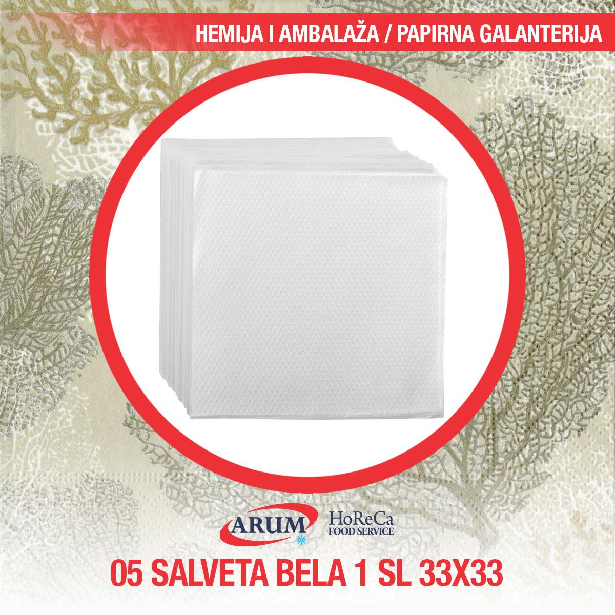 Salveta bela 1 sl 60/1 33x33