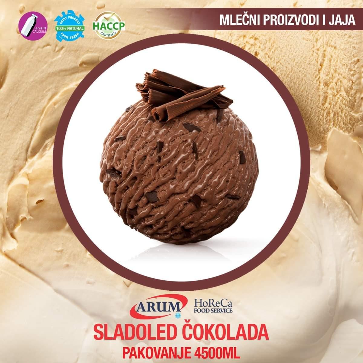 Sladoled cokolada 4500 ml