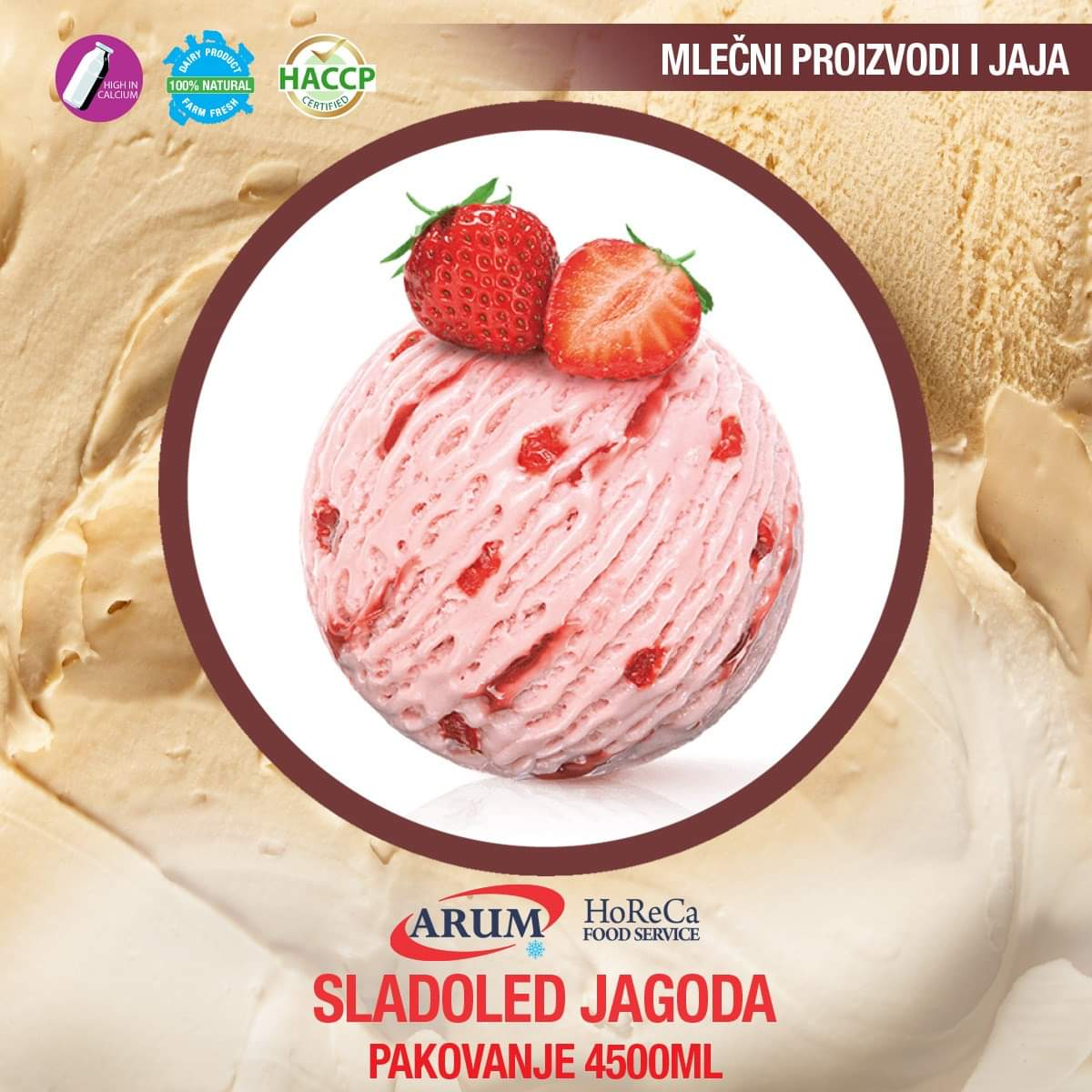 Sladoled jagoda 4500 ml