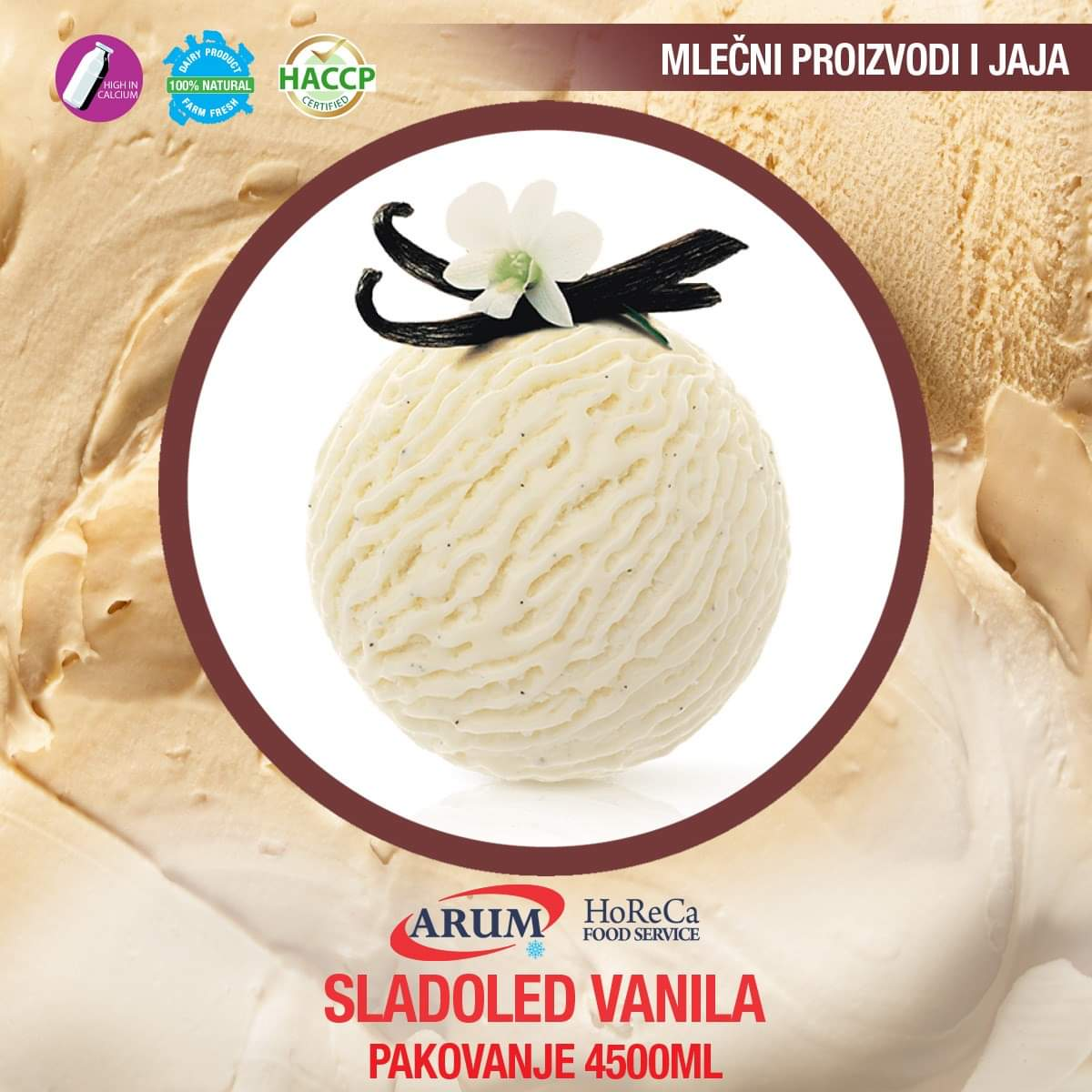 Sladoled vanila 4500 ml