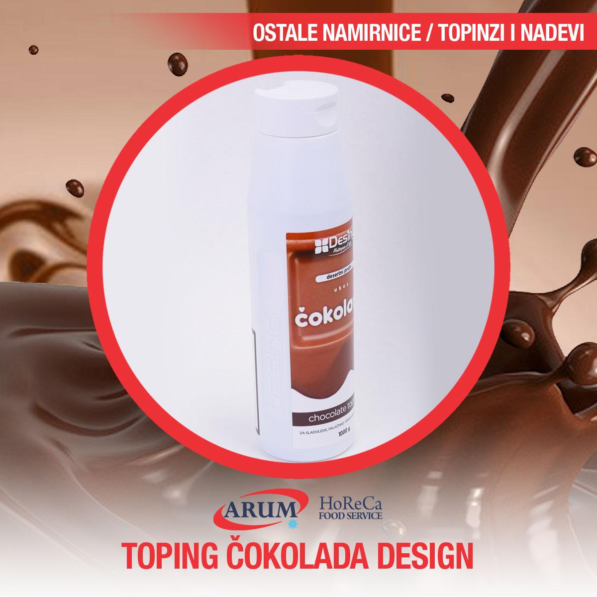 Toping cokolada 1kg desing