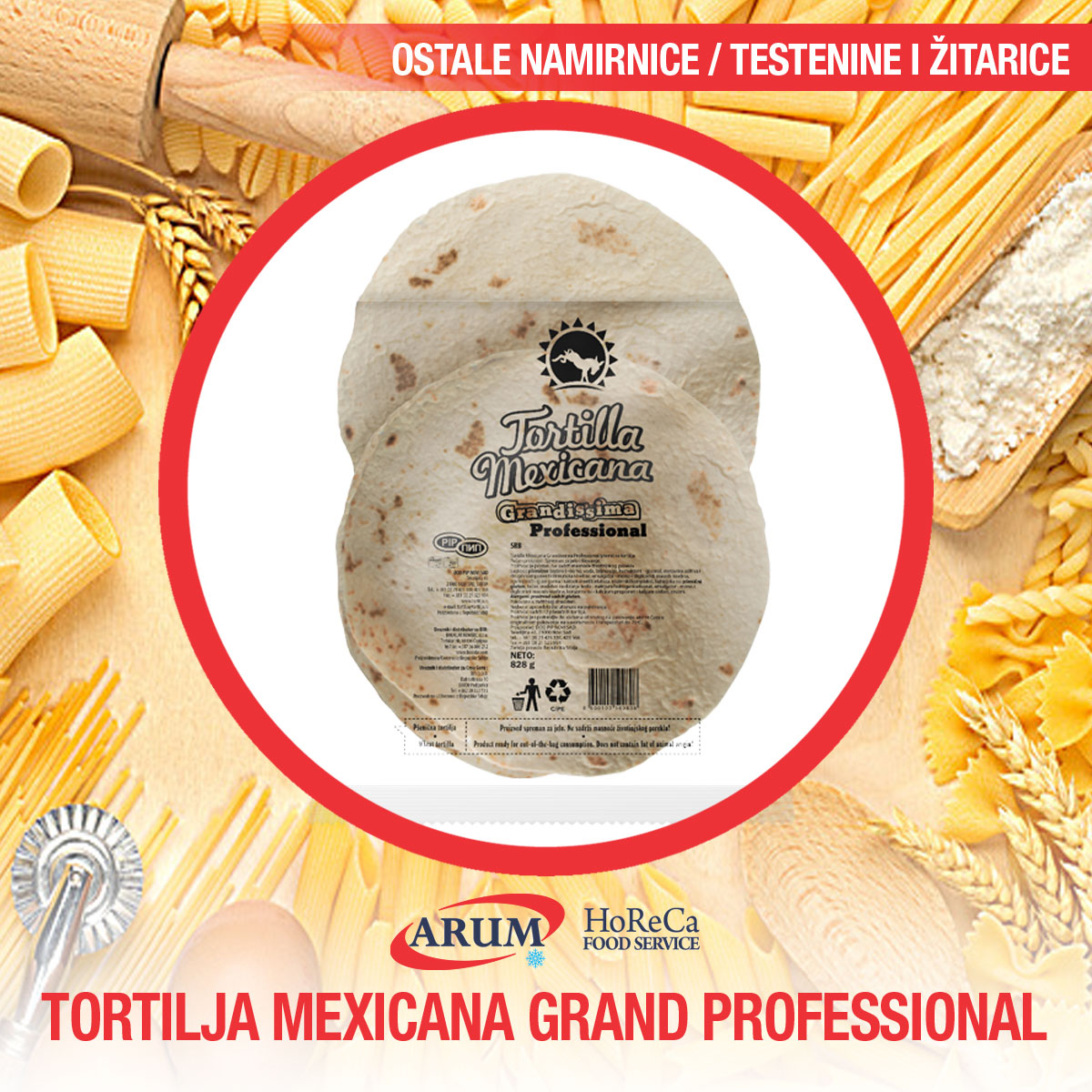 Tortilja mex.grand.prof. 780gr 12/1 (16/#)