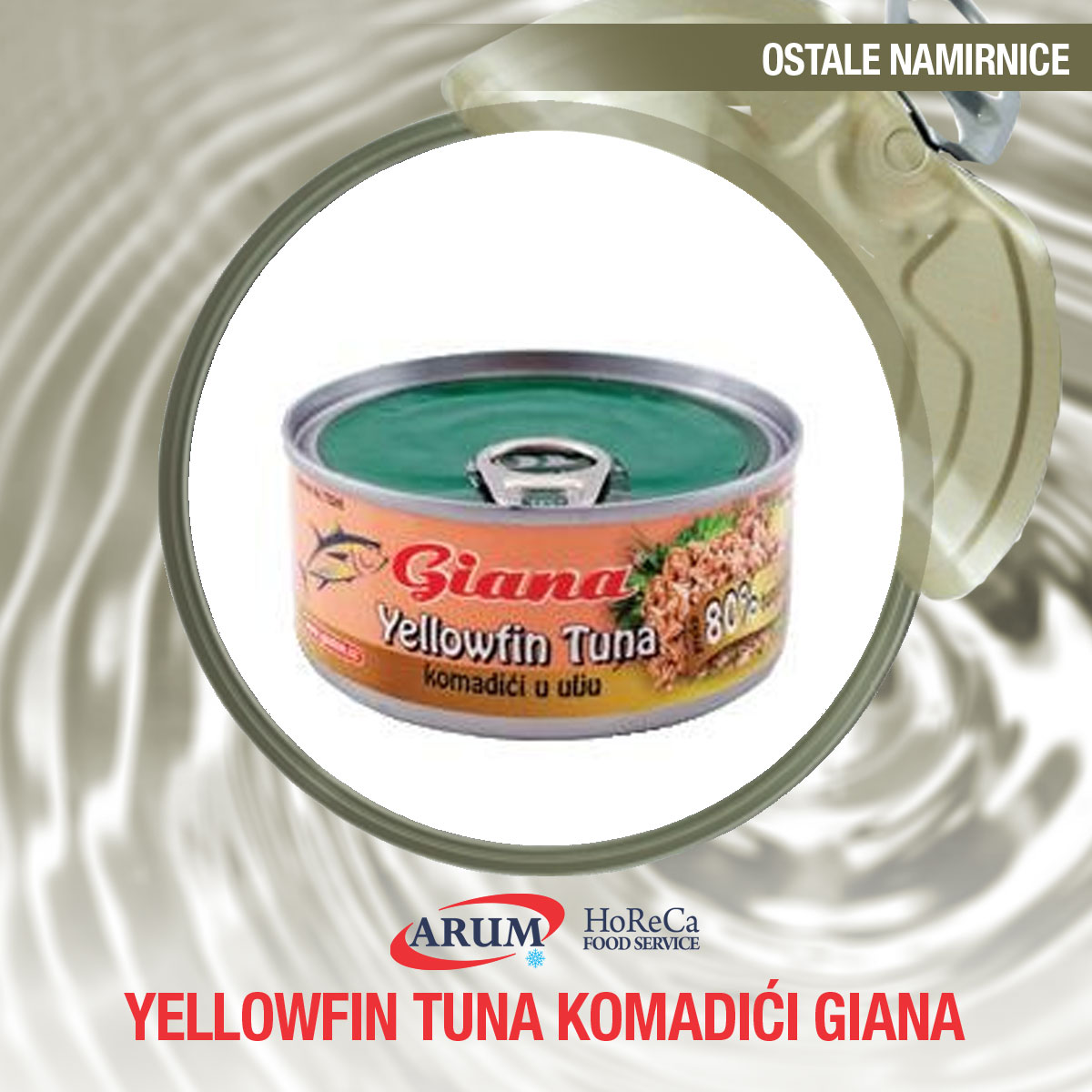 TUNA YELLOWFIN KOMADICI 165 gr (48/1#)