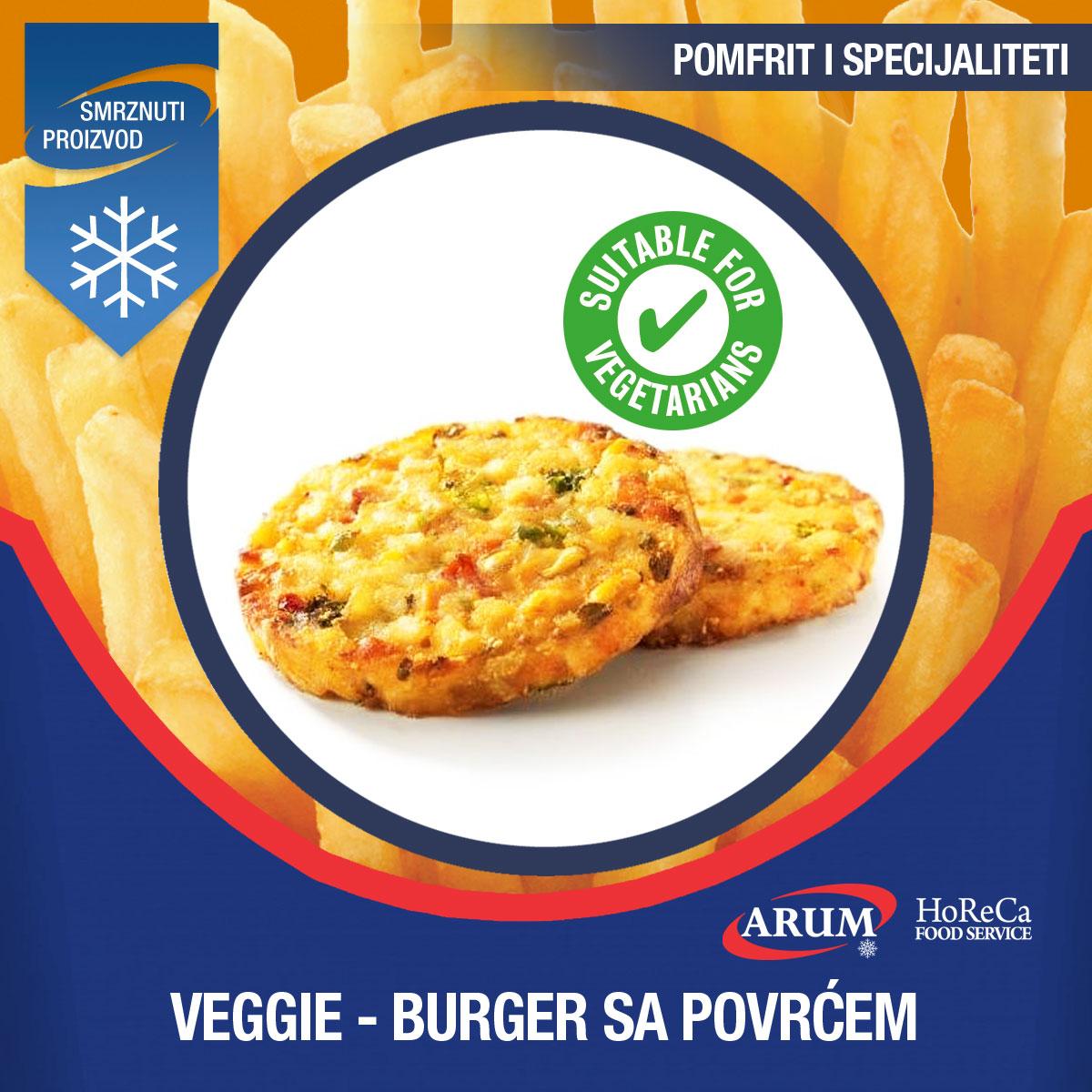 Veggie - burger s povrcem