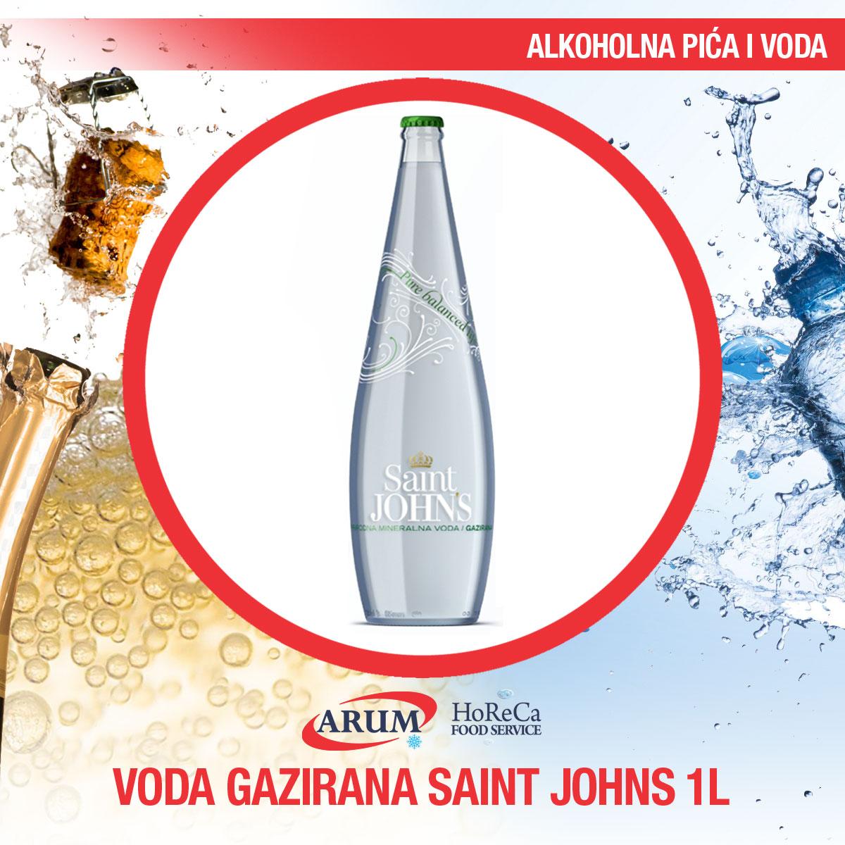 Voda gazirana 1l saint john's (6/1#)