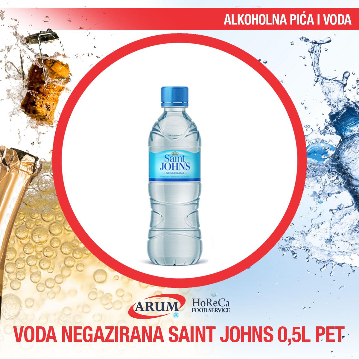 Voda negazirana 0.5l pet saint john`s (12/1#)