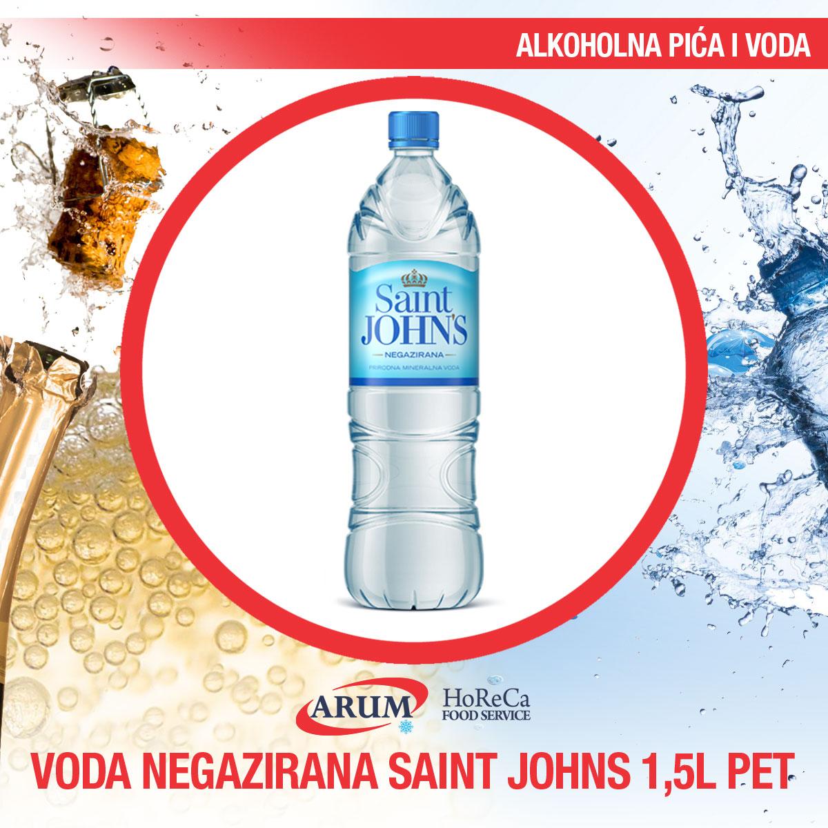 Voda negazirana 1.5l pet saint john`s (6/1#)