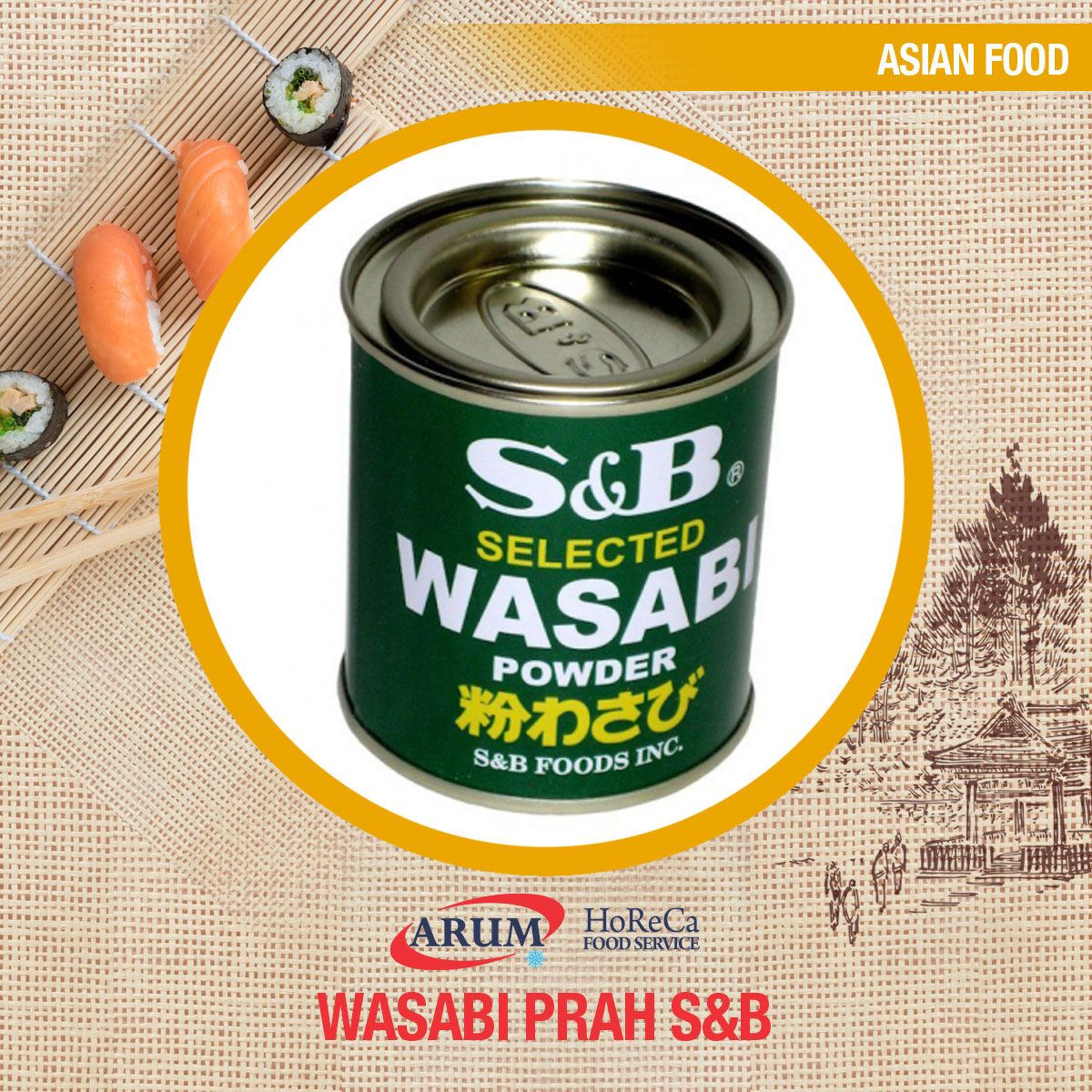 Wasabi prah 30g s&b