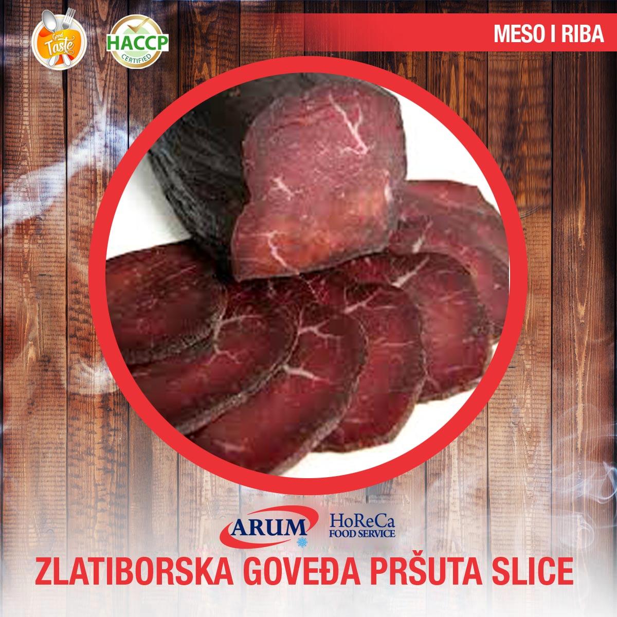 ZLATIBORSKA GOVEDJA PRSUTA 100G SLICE