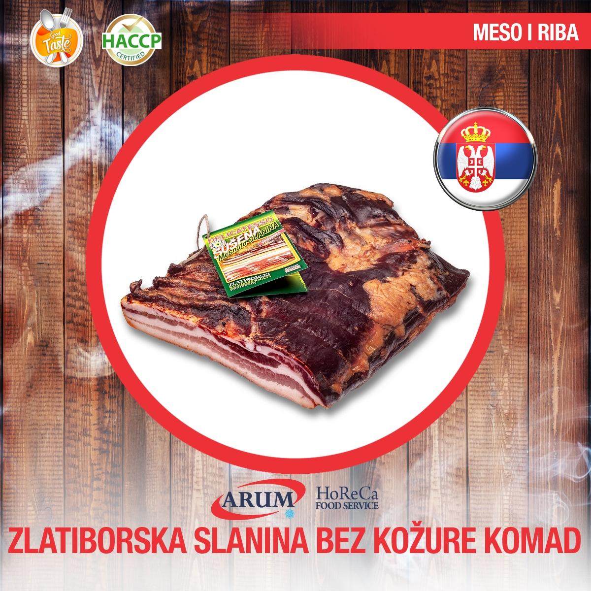 Zlatiborska slanina bez kozure komad