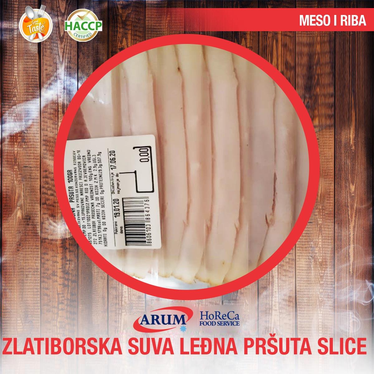 ZLATIBORSKA SUVA LEDJNA PRSUTA SLICE 100gr