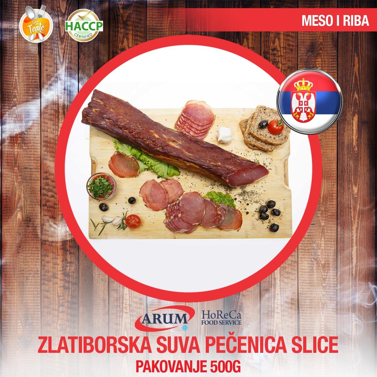 Zlatiborska suva pecenica 500gr slice
