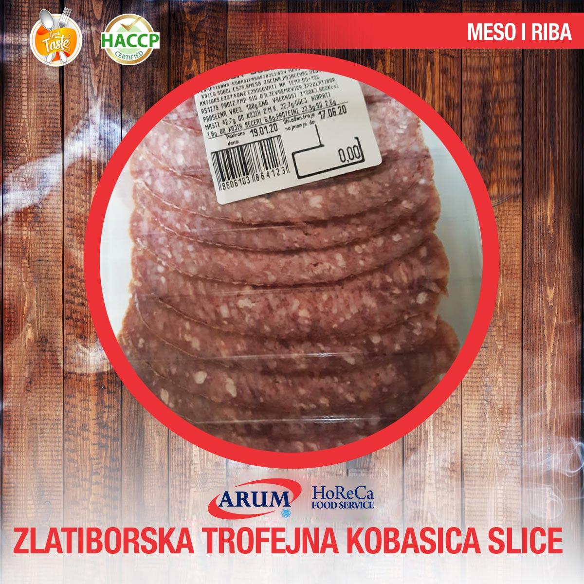 ZLATIBORSKA TROFEJNA KOBASICA 100G SLICE