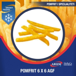 Agf 6x6 pomfrit professional- a 4x2.5 kg
