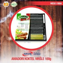 AMADORI KOKTEL VIRSLA od pileceg i cureceg mesa 1 kg (4/#)