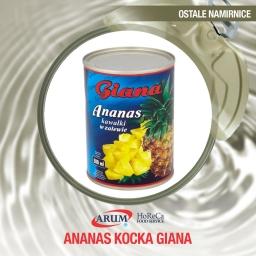 Ananas kocka 580g giana