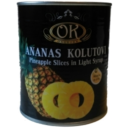 Ananas kolut 565g