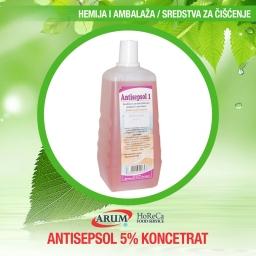 Antisepsol 5% 5000ml r=1/50  koncentrat  za dezinfekciju  povrsina