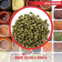 Biber zeleni u zrnu a