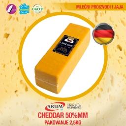 Cheddar 50% mm  2.5kg