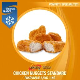 Chicken nuggets standard 2.5kg/1 kg