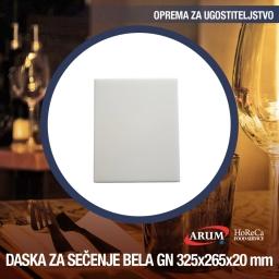 Daska za secenje bela gn 1/2 325x265xh 20mm