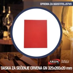 Daska za secenje crvena gn 1/2 325x265xh 20mm