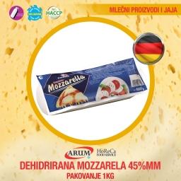 Dehidrirana mozzarela 45%mm 1kg